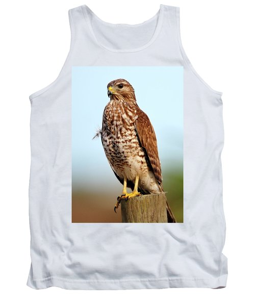 Portrait Of A Red Shouldered Hawk Tank Top