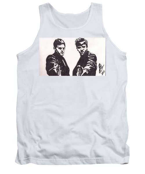 Tank Top featuring the drawing The Boondock Saints by Jeremiah Colley
