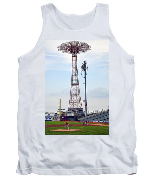 13 Year Old Pitching At Coney Island Cyclones Stadium Tank Top