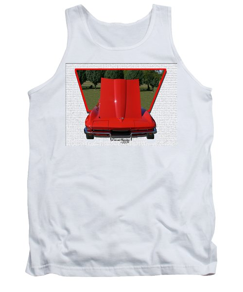 Tank Top featuring the photograph 1965 Corvette by EricaMaxine  Price