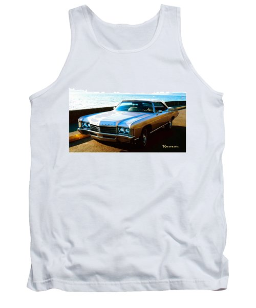 Tank Top featuring the photograph 1971 Chevrolet Impala Convertible by Sadie Reneau
