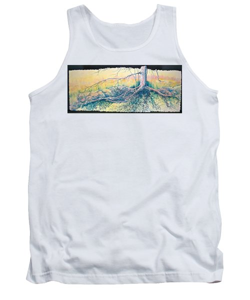 Tank Top featuring the painting Rooted In Time by Carolyn Rosenberger