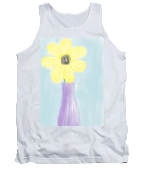 Tank Top featuring the digital art A Flower For Mo by Heidi Smith