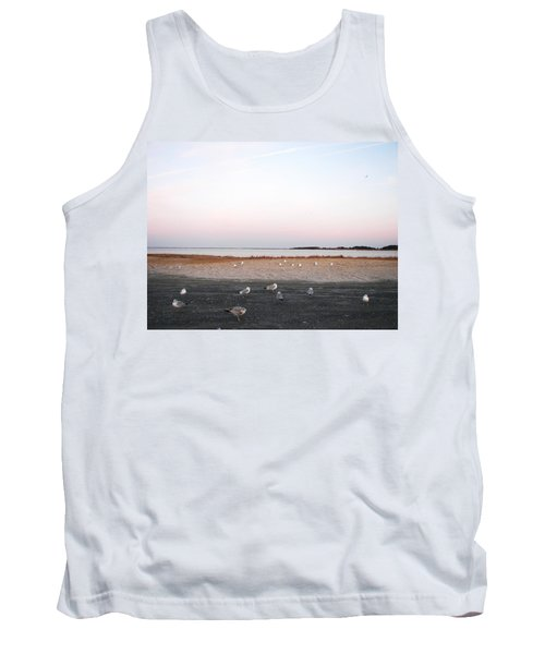 Tank Top featuring the photograph A Gathering On Rehoboth Bay by Pamela Hyde Wilson