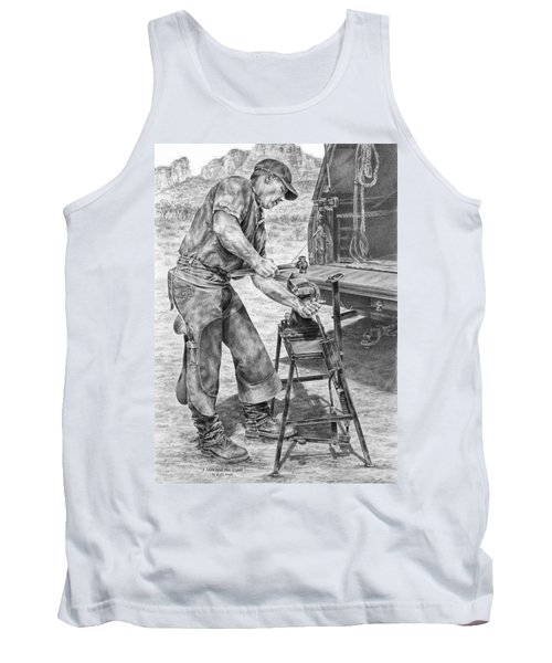 A Man And His Trade - Farrier Art Print Tank Top