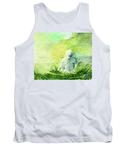 Tank Top featuring the painting A Statue At The Wellers Carriage House -5 by Yoshiko Mishina