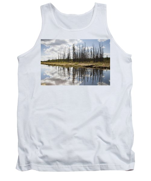 Tank Top featuring the photograph A Tranquil River With A Reflection by Susan Dykstra