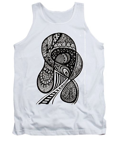 Abstract Rounding Tank Top