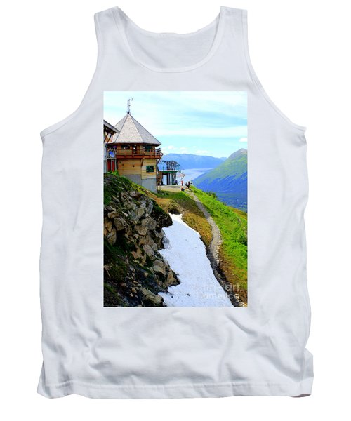 Tank Top featuring the photograph Alyeska Ski Resort Alaska by Kathy  White