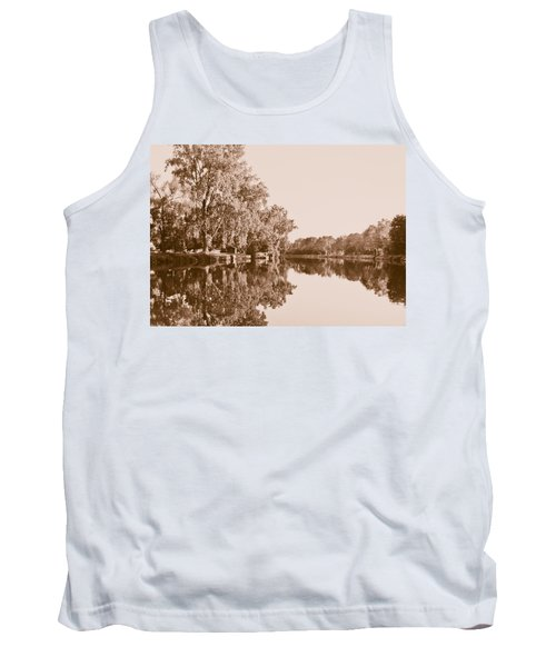 Tank Top featuring the photograph Amber Reflection by Sara Frank