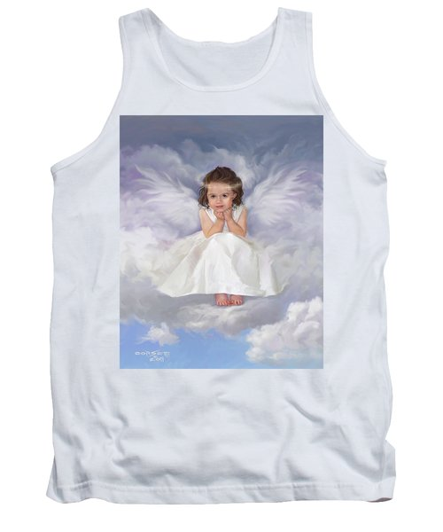 Tank Top featuring the painting Angel 2 by Rob Corsetti