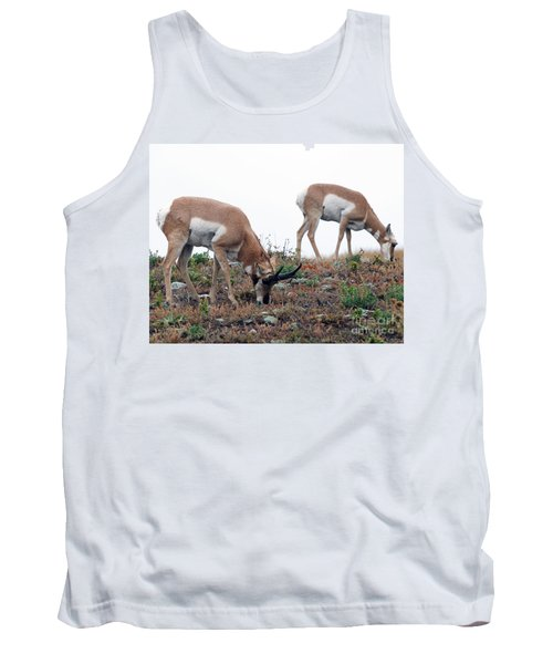 Tank Top featuring the photograph Antelopes Grazing by Art Whitton