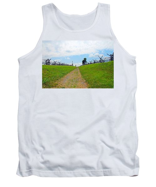 Tank Top featuring the photograph Antietam Battle Of Bloody Lane by Cindy Manero