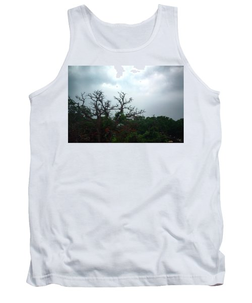 Tank Top featuring the photograph Approaching Storm Viewed Through My Rain Streaked Window by Lon Casler Bixby