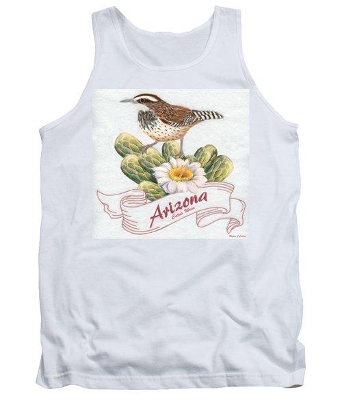 Arizona State Bird Cactus Wren  Tank Top