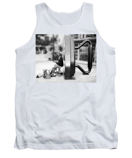 Atown Street Musician Tank Top by Gray  Artus