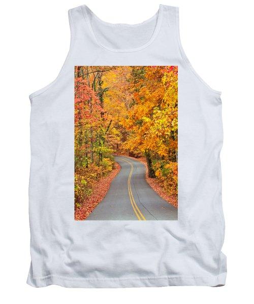 Autumn Drive Signal Mountain Tank Top