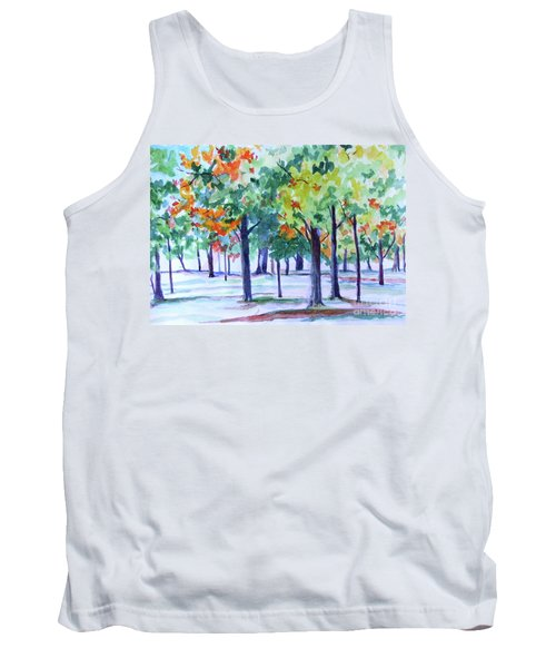 Autumn In The Park Tank Top by Jan Bennicoff