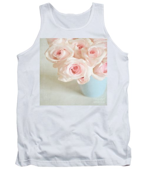 Baby Pink Roses Tank Top by Lyn Randle