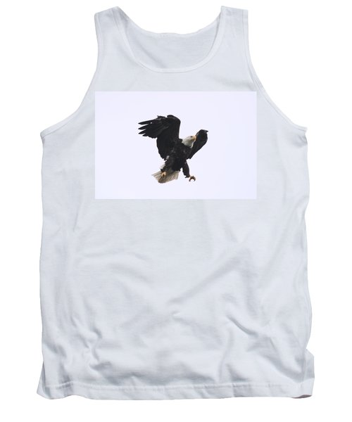 Tank Top featuring the photograph Bald Eagle Tallons Open by Kym Backland