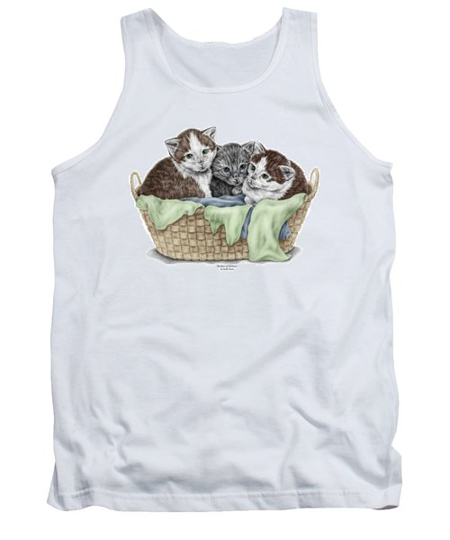 Basket Of Kittens - Cats Art Print Color Tinted Tank Top