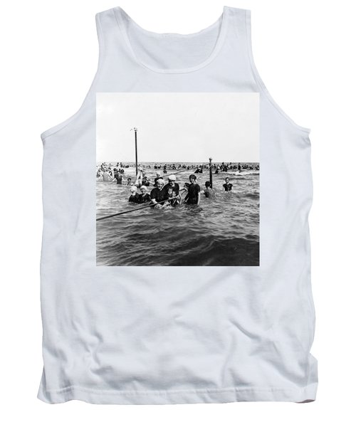 Bathing In The Gulf Of Mexico - Galveston Texas  C 1914 Tank Top