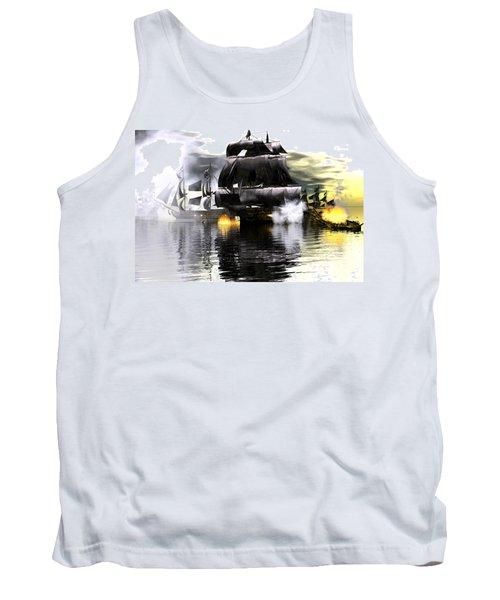 Tank Top featuring the digital art Battle Smoke by Claude McCoy