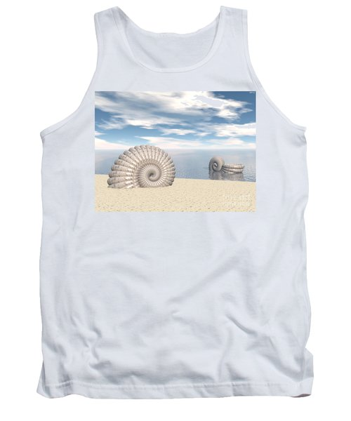 Tank Top featuring the digital art Beach Of Shells by Phil Perkins