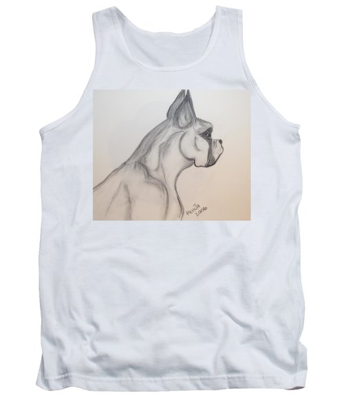 Tank Top featuring the drawing Big Boxer by Maria Urso