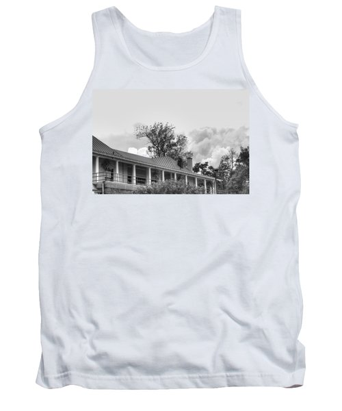 Tank Top featuring the photograph Black And White Delaware Casino by Michael Frank Jr