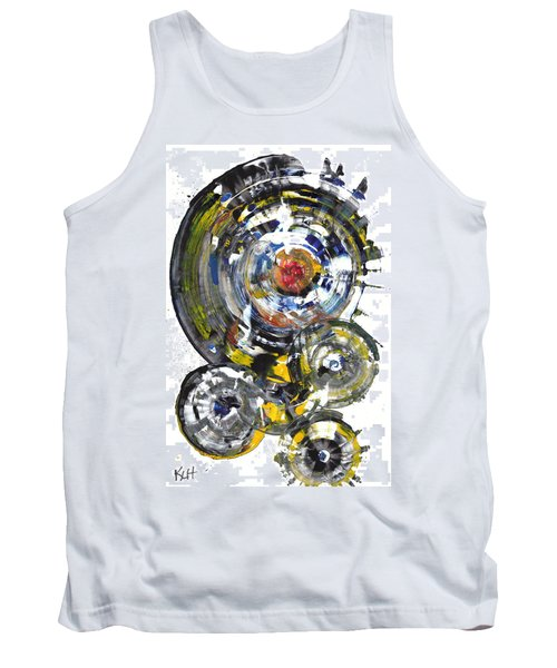 Tank Top featuring the painting Black And White Shines Brightly  843.120911 by Kris Haas