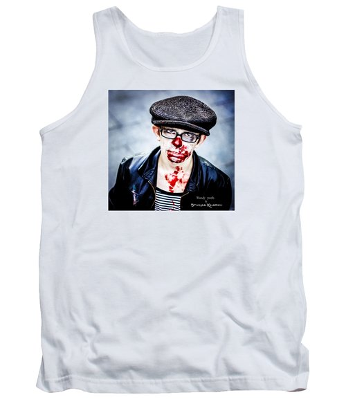 Tank Top featuring the photograph Bloody Youth by Stwayne Keubrick