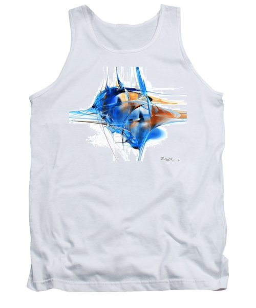 Blue Abstraction Tank Top
