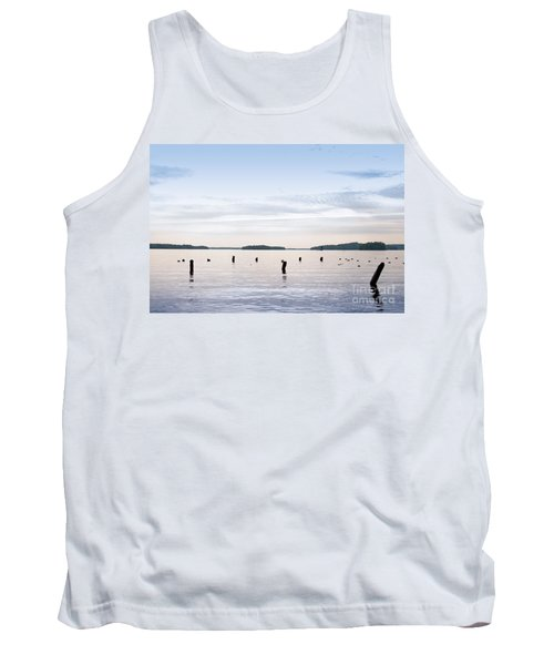 Tank Top featuring the photograph Blue Lake Muskoka by Les Palenik