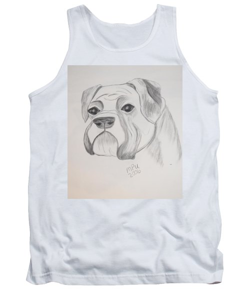 Tank Top featuring the drawing Boxer No Crop by Maria Urso