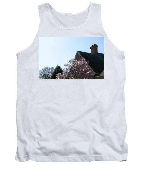 Tank Top featuring the photograph Brick And Blossom by Pamela Hyde Wilson