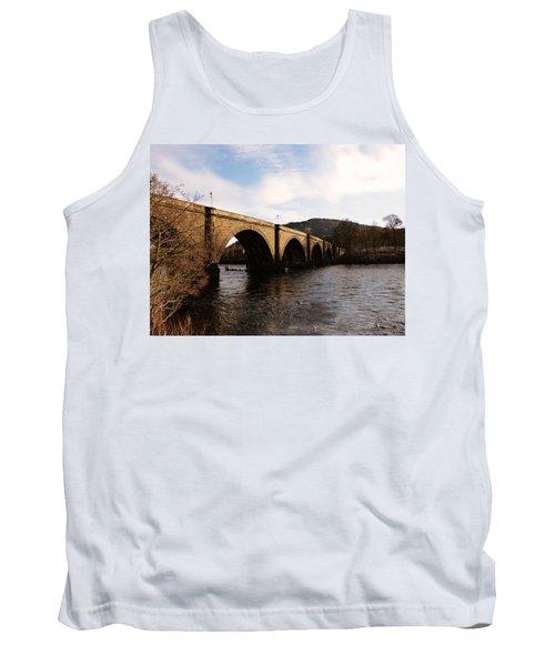 Tank Top featuring the photograph Bridge Across River Tay by Lynn Bolt
