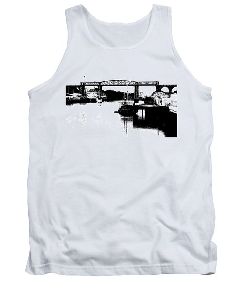 Tank Top featuring the photograph Bridge On The Boyne by Charlie and Norma Brock