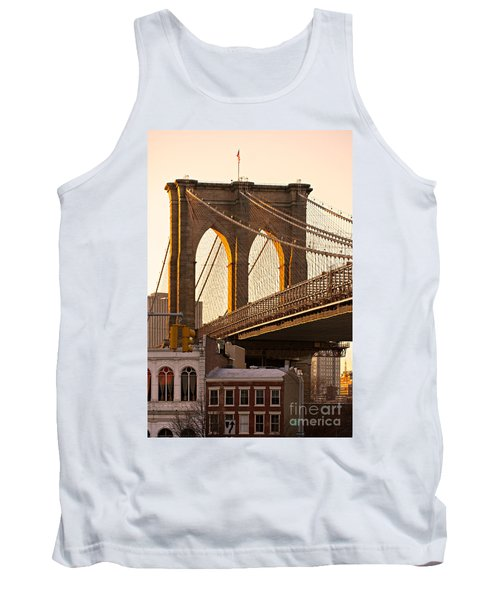 Tank Top featuring the photograph Brooklyn Bridge - New York by Luciano Mortula