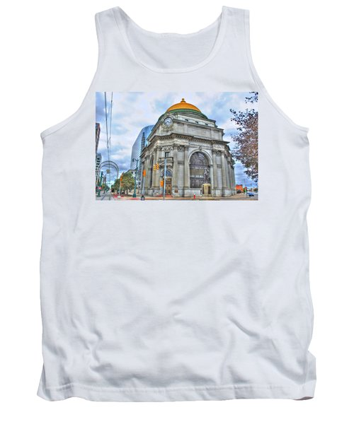 Tank Top featuring the photograph Buffalo Savings Bank  Goldome  M And T Bank Branch by Michael Frank Jr