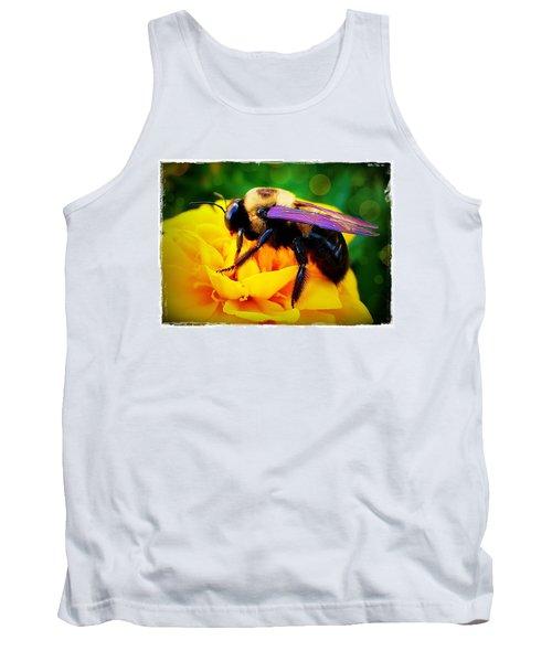 Bumblebee With Bokeh Tank Top by Judi Bagwell