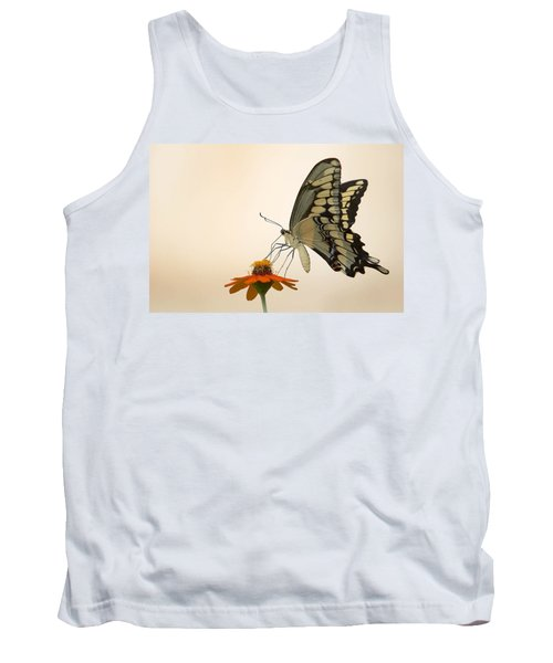 Butterfly And Flower Tank Top