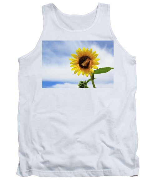 Butterfly On A Sunflower Tank Top