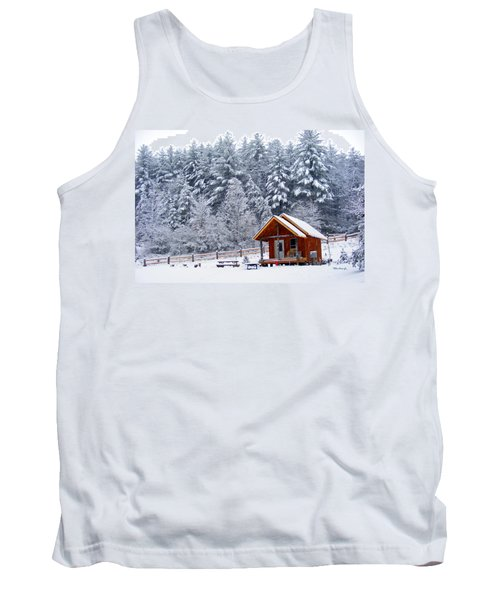 Cabin In The Snow Tank Top