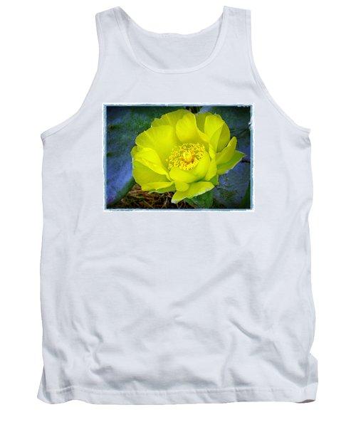 Cactus Flower Tank Top by Judi Bagwell