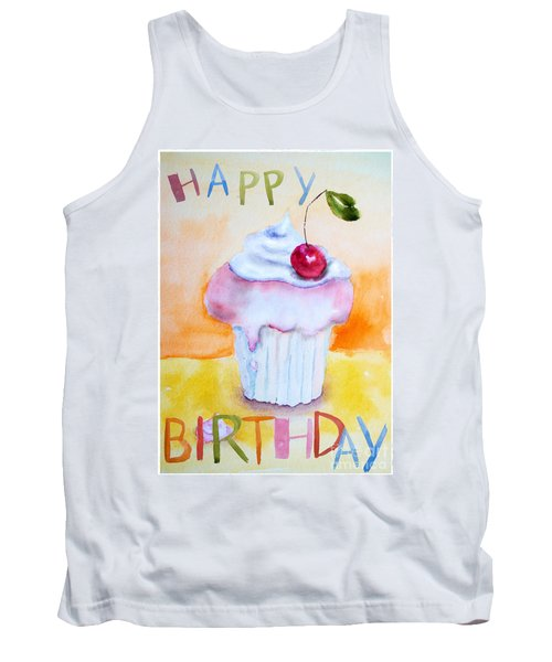 Cake With Insription Happy Birthday Tank Top