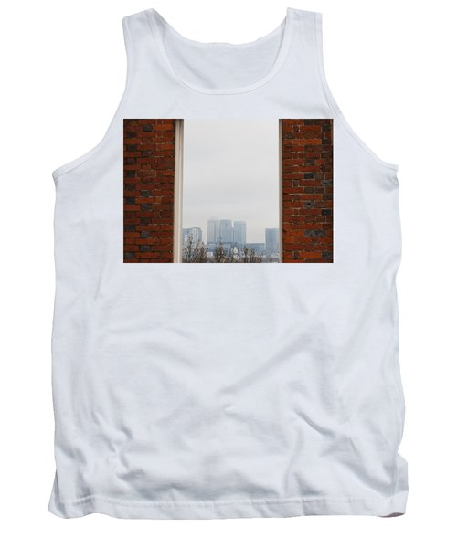 Tank Top featuring the photograph Canary Wharf View by Maj Seda