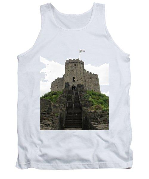 Cardiff Castle Tank Top by Ian Kowalski