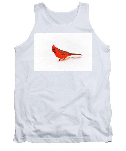 Tank Top featuring the photograph Young Cardinal's Curiosity by Tamyra Ayles