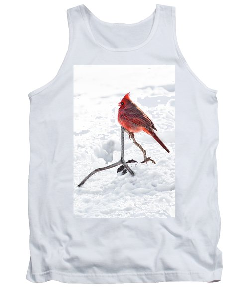 Tank Top featuring the photograph Cardinal's Song by Tamyra Ayles